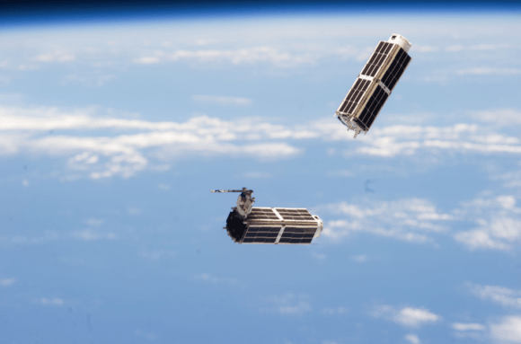 NanoRacks CubeSats deployed from the International Space Station in February 2014, during Expedition 38. Credit: NASA