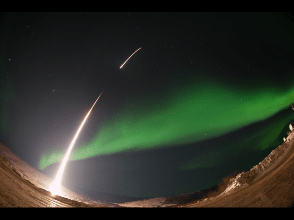 On March 3, 2014 the The Ground-to-Rocket Electrodynamics – Electron Correlative Experiment (GREECE)  sounding rocket launched straight into an aurora from t