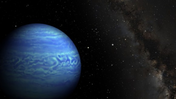 This artist's conception shows the object named WISE J085510.83-071442.5, the coldest known brown dwarf. Image credit: Penn State University/NASA/JPL-Caltech