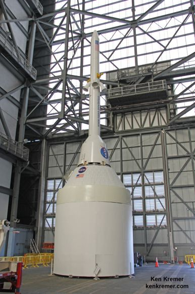 Orion crew capsule, Service Module and 6 ton Launch Abort System (L