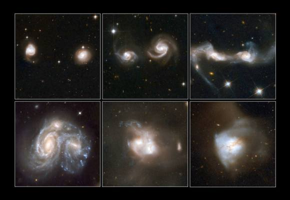 A few examples of merging galaxies. NASA, ESA, the Hubble Heritage Team (STScI/AURA)-ESA/Hubble C