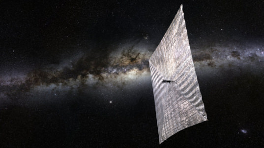 The Planetary Society's LightSail-1 solar sailing spacecraft is scheduled to ride a SpaceX Falcon Heavy rocket to orbit in 2016 with its parent satellite, Prox-1. Credit: Josh Spradling/The Planetary Society.
