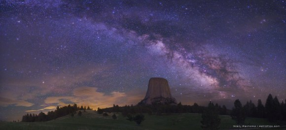 The Milky Way as seen from Devil's Tower, Wyoming. Image Credit: Wally Pacholka