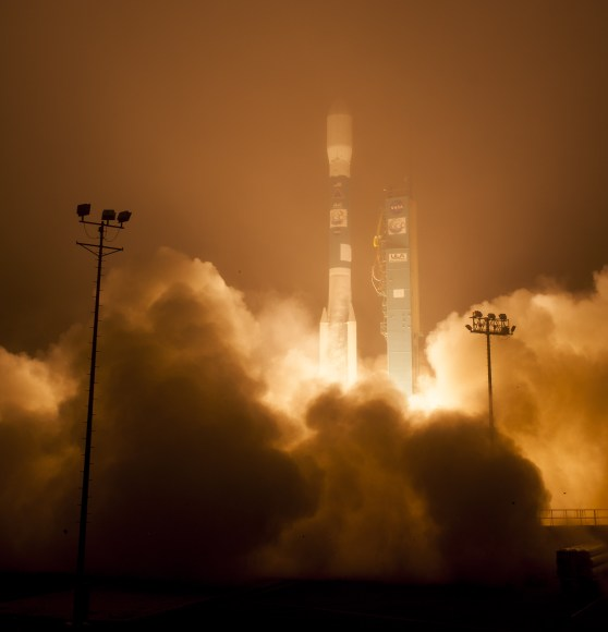 The Orbiting Carbon Observatory-2, NASA's first mission dedicated to studying carbon dioxide in Earth's atmosphere, lifts off from Vandenberg Air Force Base, California, at 2:56 a.m. Pacific Time, July 2, 2014. The two-year mission will help scientists unravel key mysteries about carbon dioxide. Credit: NASA/Bill Ingalls