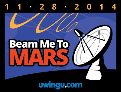 Uwingu's latest fund-raising project is 'Beam Me to Mars.' Image courtesy Uwingu.