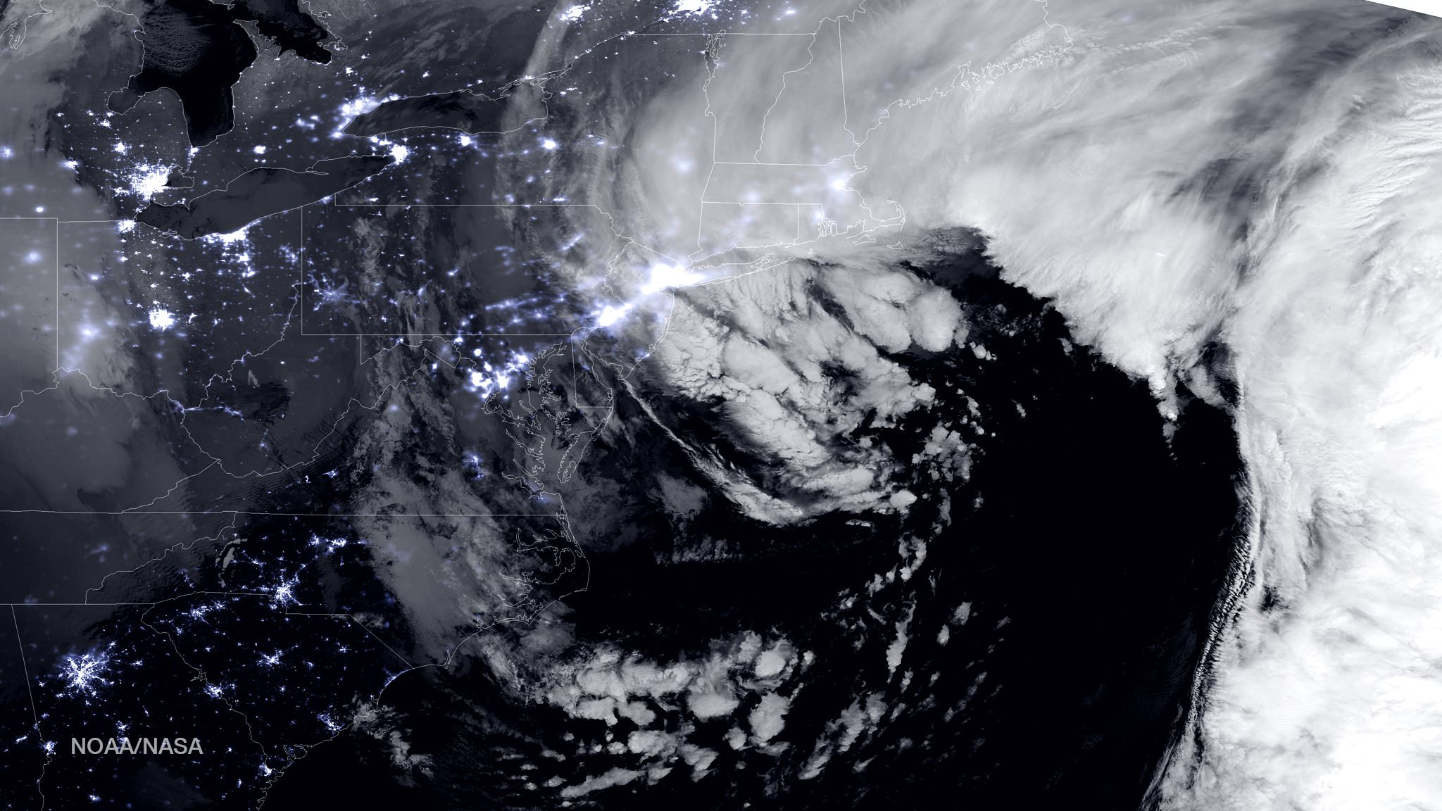 NASA and NOAA Satellites Image Crippling Blizzard of 2015 ...