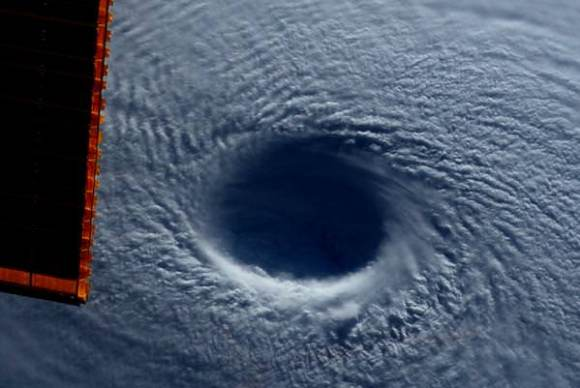 Maysak, a category 4 Super Typhoon, as photographed by astronaut Terry Virts on board the International Space Station. Credit: NASA/Terry Virts.