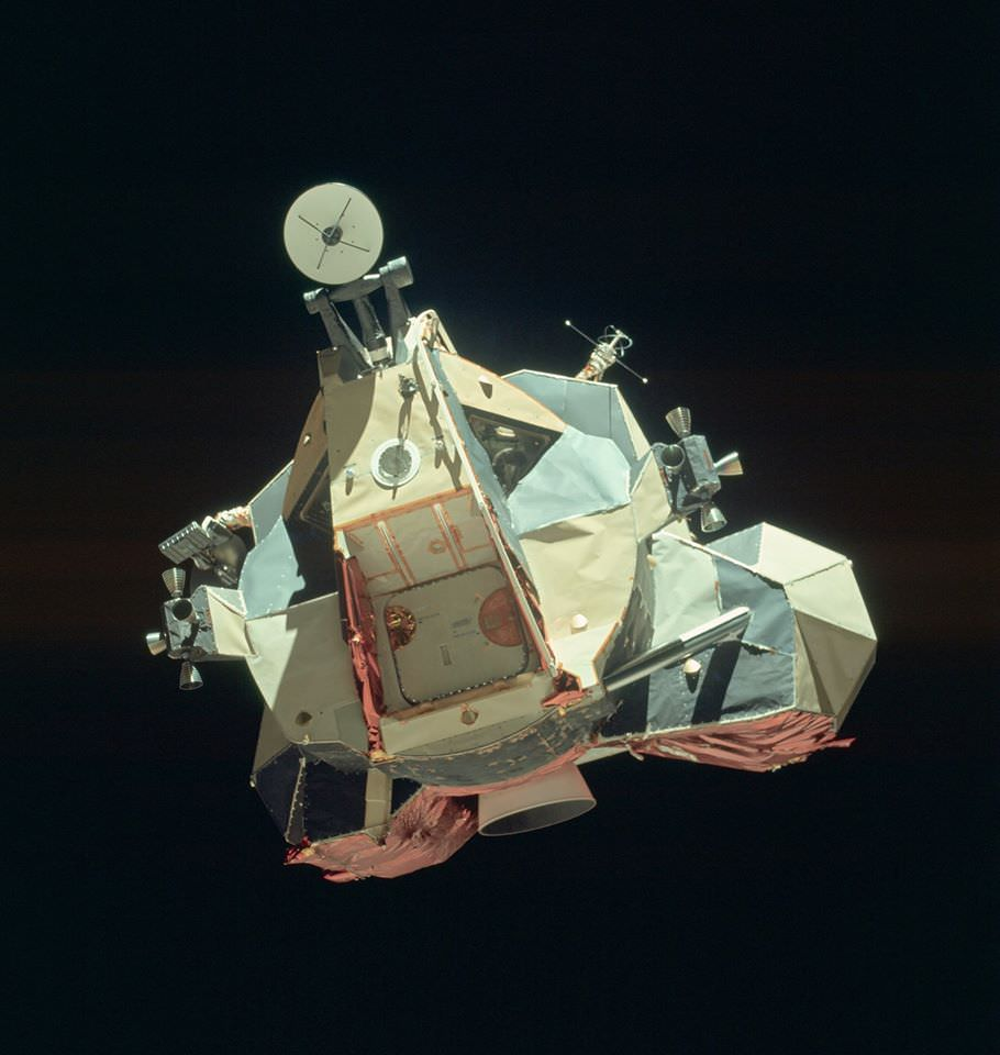 """The Apollo 17 Lunar Module """"Challenger"""" ascent stage after ..."""