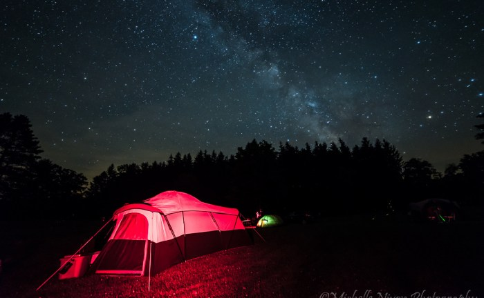 Camping out under dark skies. Image credit and copyright: Michelle Nixon/MNixon Photography