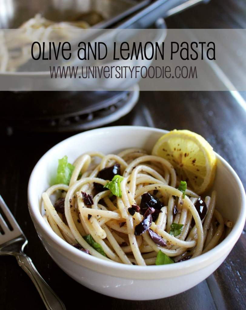 Olive & Lemon Pasta | universityfoodie.com