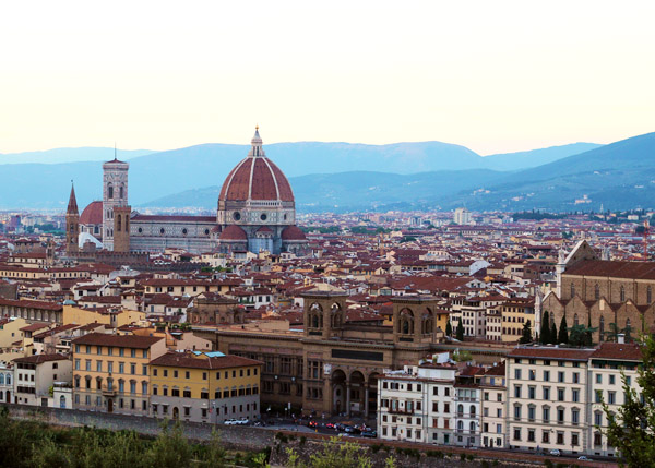 View from Piazzale Michelangelo in Florence, Italy | universityfoodie.com