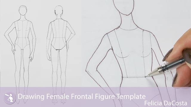 Drawing Female Frontal Figure Template - University of Fashion