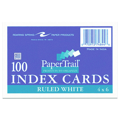 Index Card 4 X 6 Ruled University of Alabama Supply Store