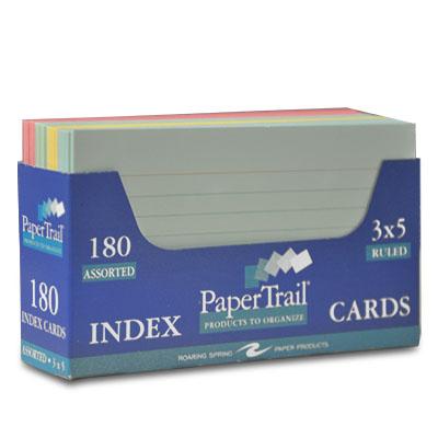 Index Card 3 X 5 trayed Asst University of Alabama Supply Store