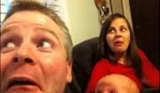 Foto padre e figlia divertente