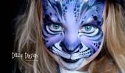 bimba con volto gatto