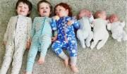 6 figli di cui 3 gemelli