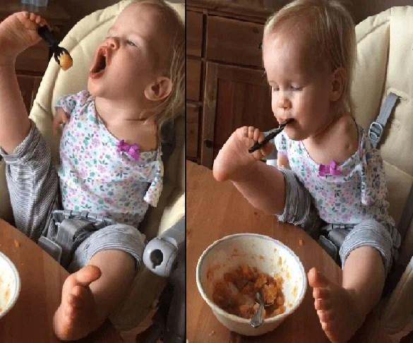 bambina senza braccia