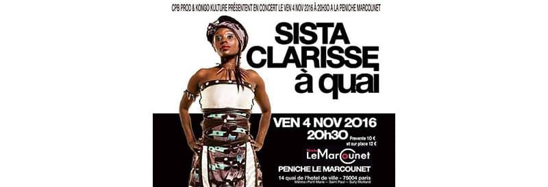 Protégé: Concert Sista Clarisse Vendredi 4 Novembre