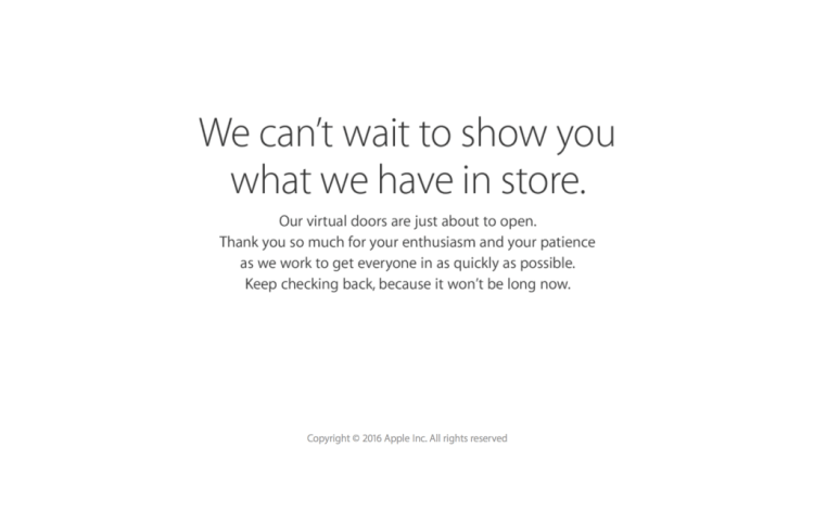 Apple Store- goes down