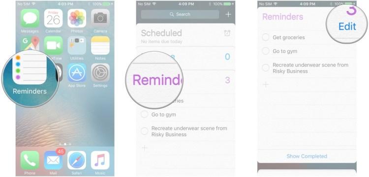 كيفية مسح رسائل التذكير على iOS  كيفية مسح رسائل التذكير على iOS  كيفية مسح رسائل التذكير على iOS