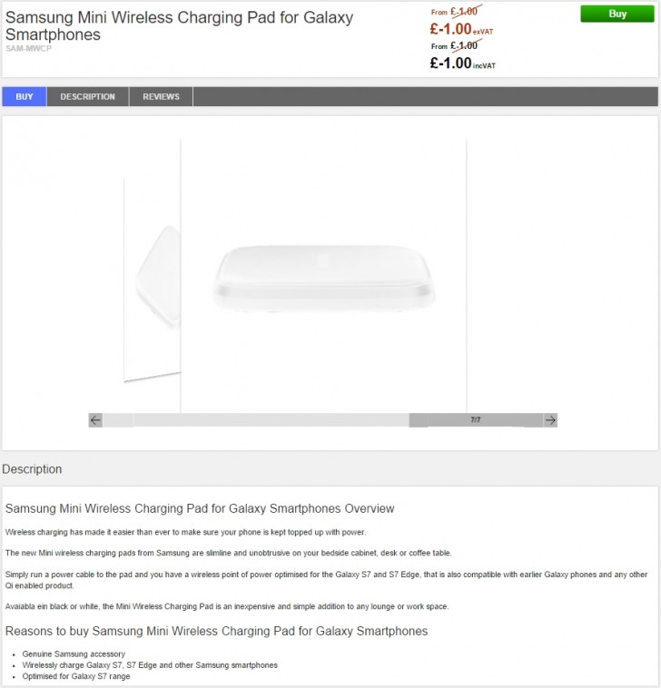 Wireless Charging Pad -uk