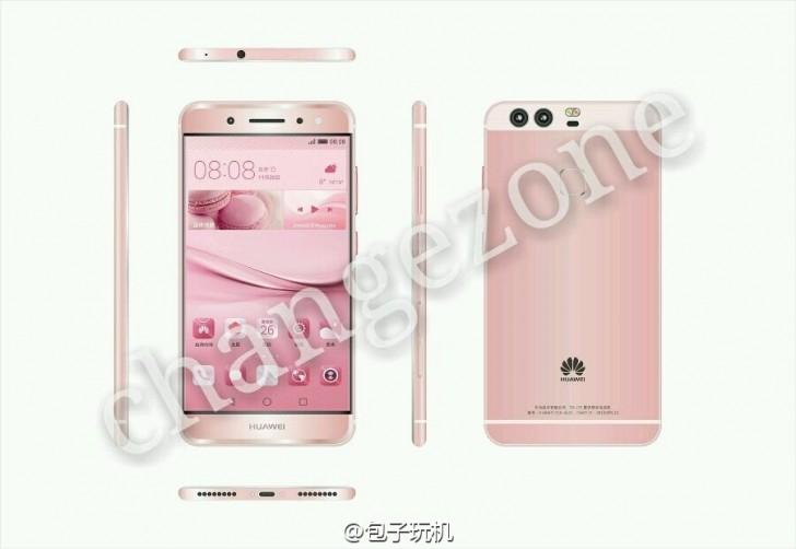 pink Huawei P9