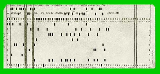 IBM 360 Punch Card - punch cards
