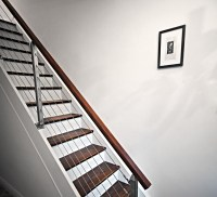 Installing a modern railing on a closed box staircase ...