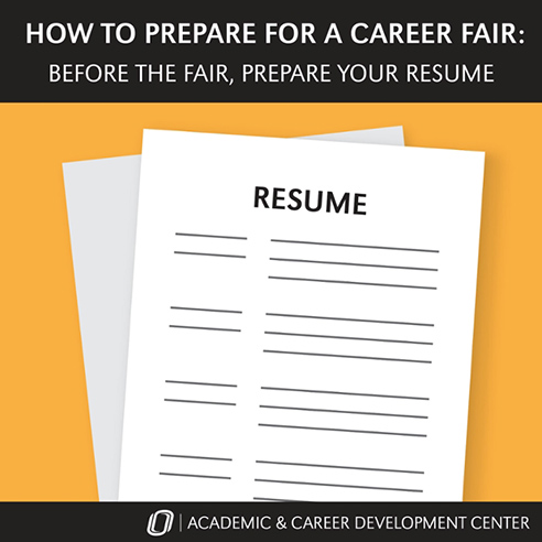 ACDC Success Tip Preparing for the Career Fair News University