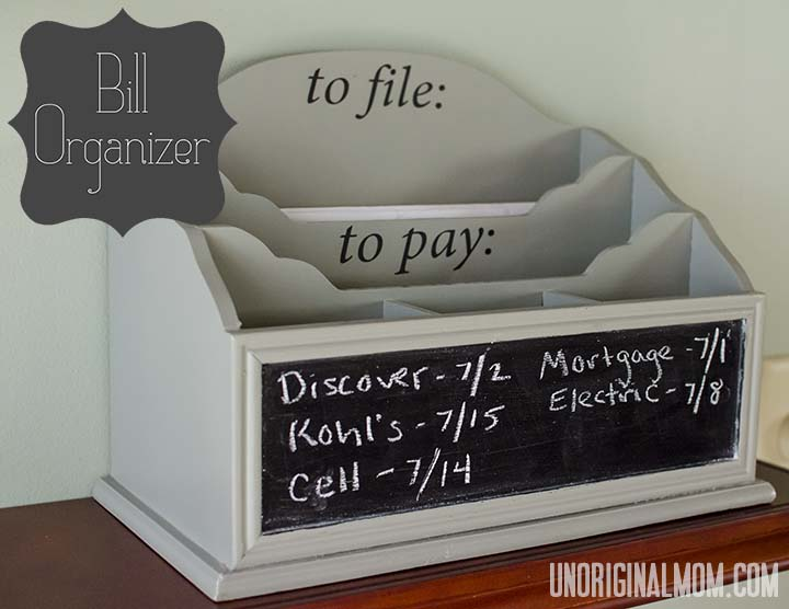 Desktop Bill Organizer - unOriginal Mom - bill organizer