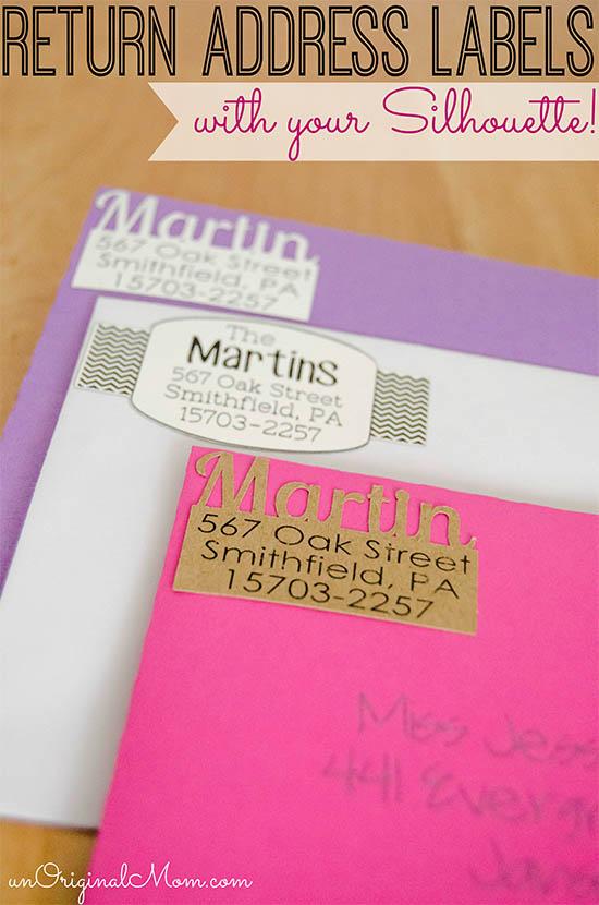 DIY Return Address Labels - unOriginal Mom