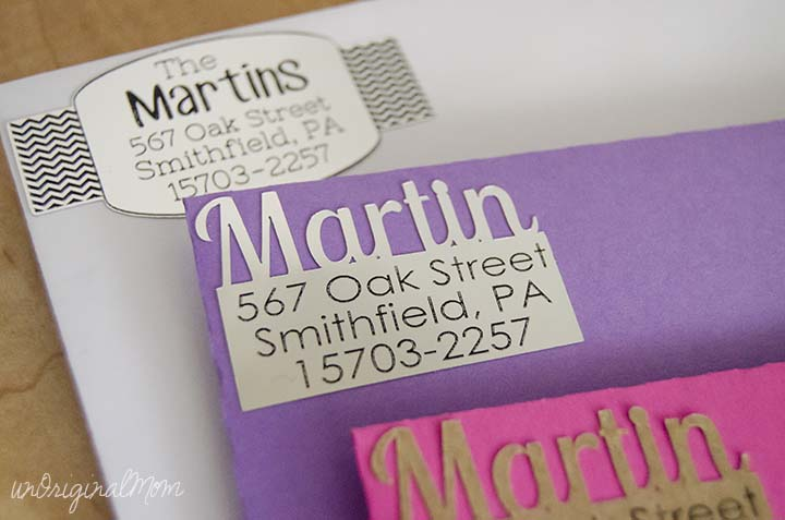 DIY Return Address Labels - unOriginal Mom - Address Label