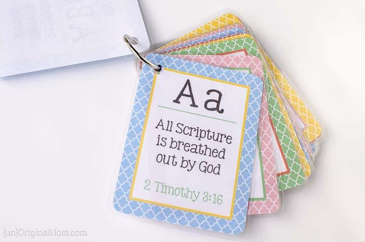 Printable ABC Scripture Memory Cards - unOriginal Mom