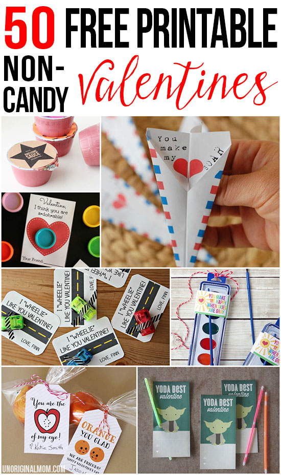 50 Free Printable Non-Candy Valentines - unOriginal Mom