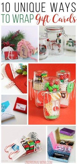 Great Ways To Wrap Gift Add A Handmade Touch Teachers Gift Ideas Girlfriend Se Gift Gift Card Wrapping Ideas Unoriginal Mom Gift Ideas