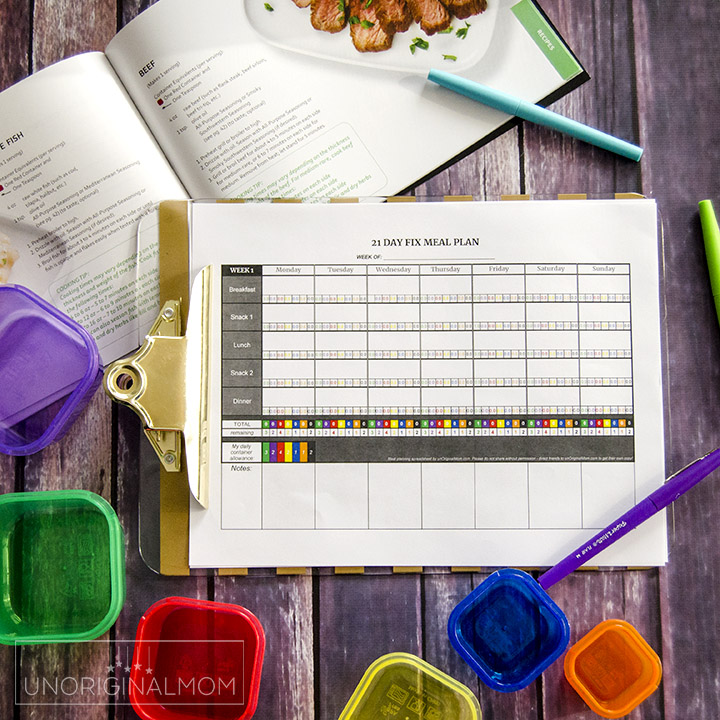 21 Day Fix Meal Plan Spreadsheet - Free Self-Calculating Google