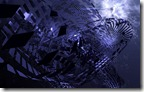 Futuristic mechanical abstract in purple