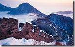 北京箭扣长城的雪景