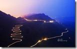 贵州的一段崎岖公路