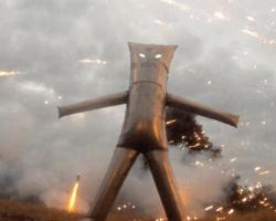 Un traje para disfrutar los fuegos artificiales desde dentro