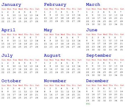 A (Sort Of) Better Calendar - Unpopular Ideas -