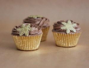 Cupcakes Navidad Chocolate a la Naranja