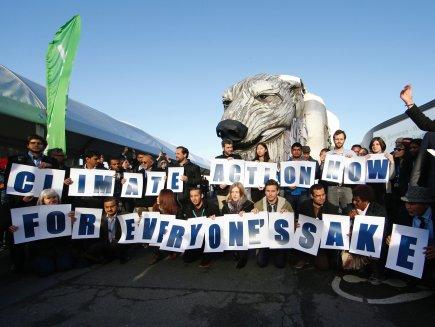 Greenpeace activists demonstrating