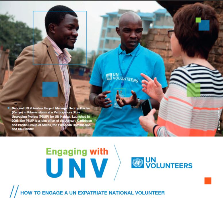 Engaging with UNV UN Expatriate National Volunteer UNV