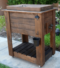 Inspiring Wood Patio Table With Cooler - Patio Design #398