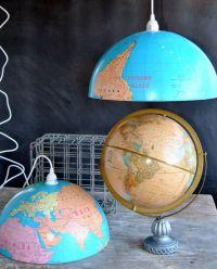 Upcycled World Globe - Easy DIY Pendant Lights