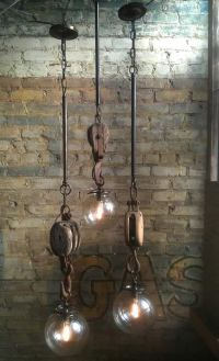Wench Hooks pendants by Omega Lighting Design - upcycleDZINE