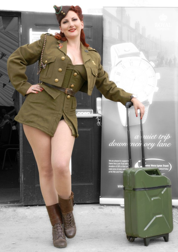 Navy Pin Up Girl Wallpaper Jerry Can Luggage Upcycle That