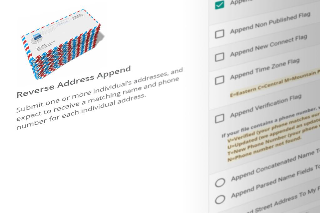 Reverse Address Append Services UpdateYourList